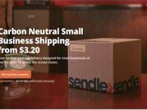 Screenshot of Sendle.com home page