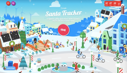Web page describing Google's Santa Tracker
