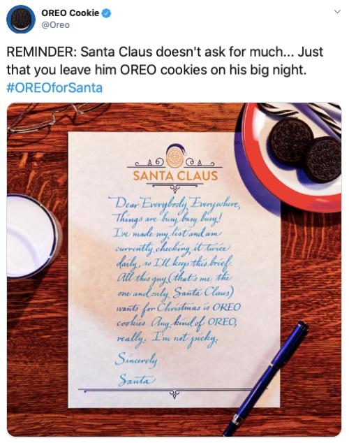 Image describing Oreo's #OREOforSanta