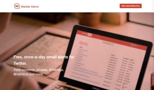 Home page: Warble Alerts