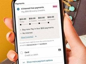 Screenshot of the Klarna shopping app