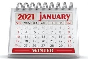 Image of a January calendar