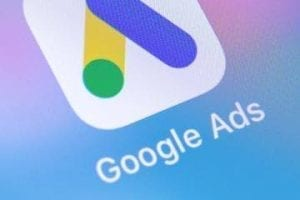 Google Ads icon on a smartphone screen