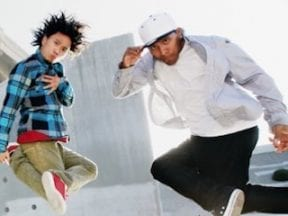 Image of two skateboarders from Sitecore's home page