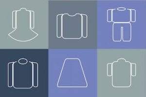 Illustration of various types of clothes