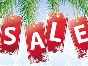 "Christmas image reading: ""Sale"""