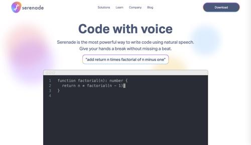 Serenade home page