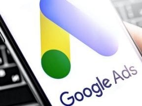 Image of Google Ads logo on a smartphone