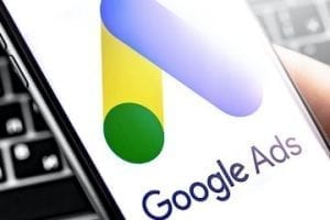 Image of Google Ads logo on a smartphone