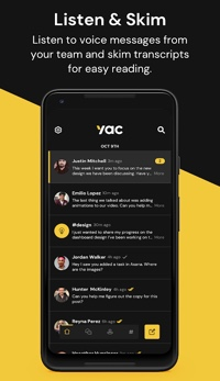 Screen capture of Yac mobile home page