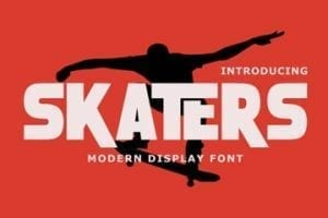Screen capture of Skaters font