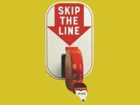 """Partial cover of """"Skip the Line"""" book"""