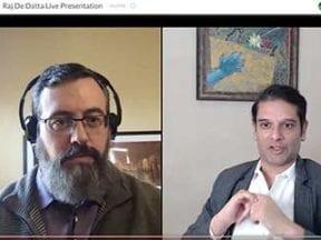Screenshot of video interview: Armando Roggio and Raj De Datta