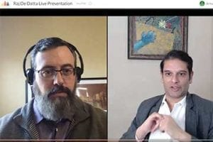 Screenshot of video interview: Armando Roggio and Raj De Datta