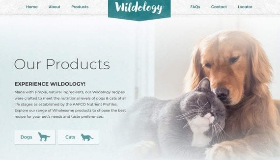 Screenshot of Wildology home page