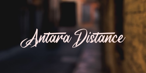 Screenshot of the A Antara Distance font