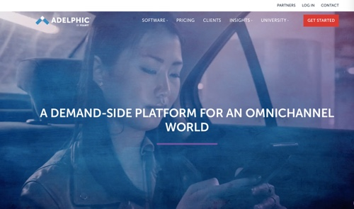 Screenshot of Adelphic home page