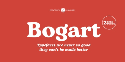 Screenshot of the Bogart font