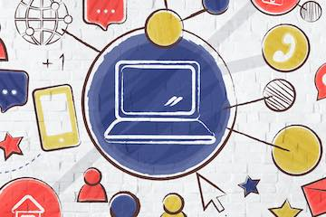 Illustration of a social media concept
