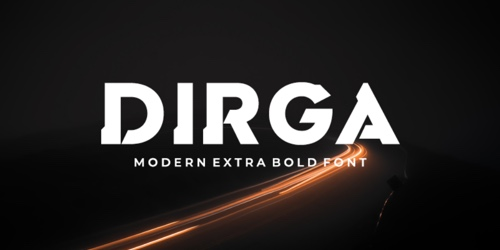 Screenshot of the Dirga font