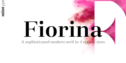Screenshot of the Fiorina font