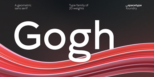 Screenshot of the Gogh font