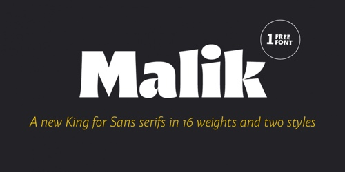 Screenshot of the Malik font