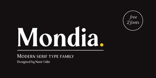 Screenshot of the Mondia font
