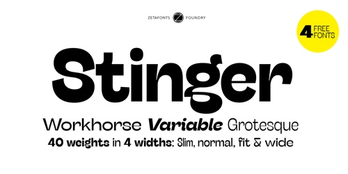 Screenshot of the Stinger font