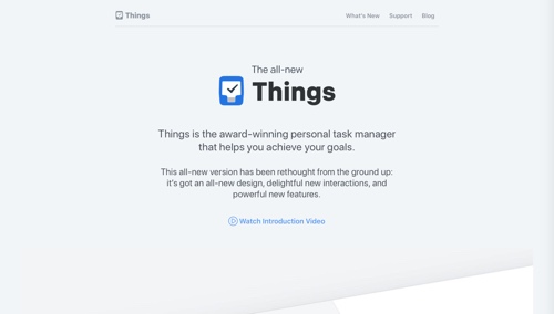 Home page: Things