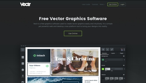 Vectr home page