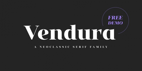 Screenshot of the Vendura font
