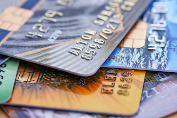 Image of a stack of credit cards