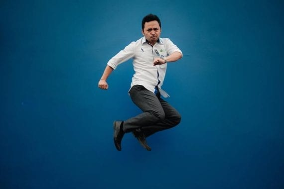 Image of a man jumping.