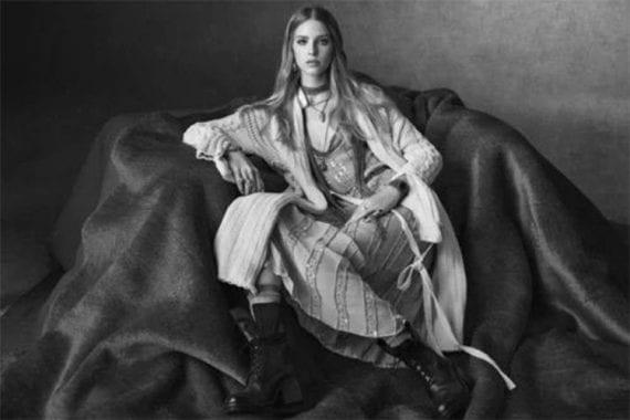 Image of a female fashion model