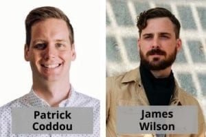 Photo of Patrick Coddou and James Wilson