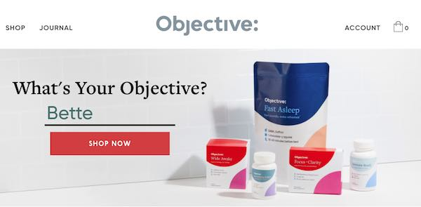 Screenshot of Objective.com's home page.