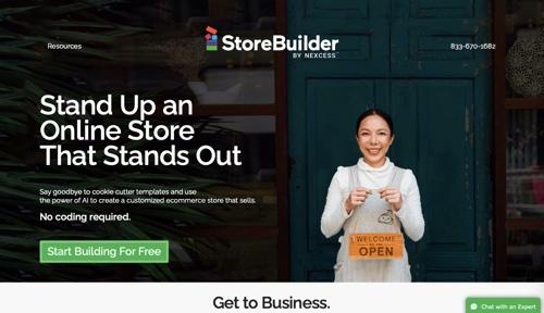 Capture d'écran de StoreBuilder de Nexcess