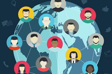 Illustration of global owners and managers