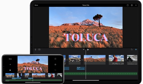 Home page of iMovie