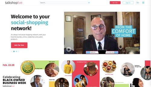 Capture d'écran de Talkshoplive