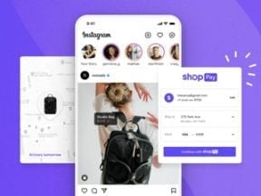 Home page of Shopify's Shop Pay