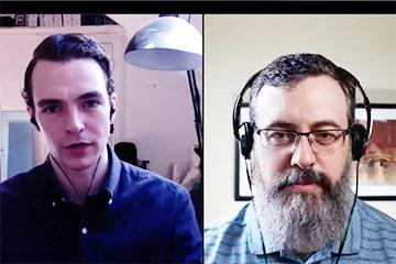 Screenshot of CommerceCo video interview