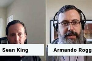 Screenshot of the video showing Sean Kingand Armando Roggio