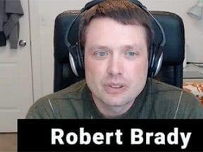 Screenshot of Robert Brady from a video