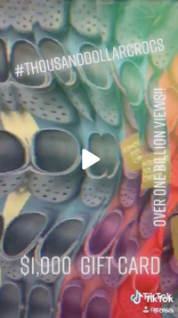 Screenshot of Crocs video on TikTok