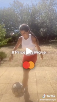 Screenshot of Mastercard video on TikTok
