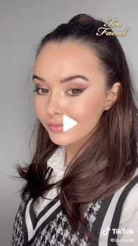 Screenshot of Too Faced Cosmetics video on TikTok