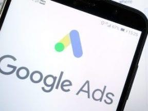 Smartphone screen showing Google Ads logo