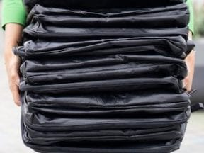 Image from LimeLoop of reusuable shipping bags